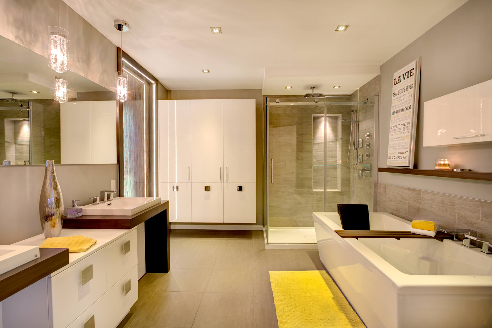 salle de bain contemporaine christian marcoux. Black Bedroom Furniture Sets. Home Design Ideas